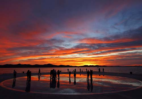 Zadar o pôr do sol mais bonito do mundo